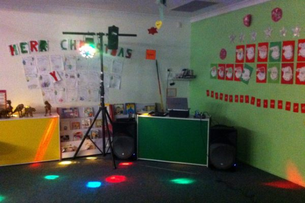 Kindy Disco Setup